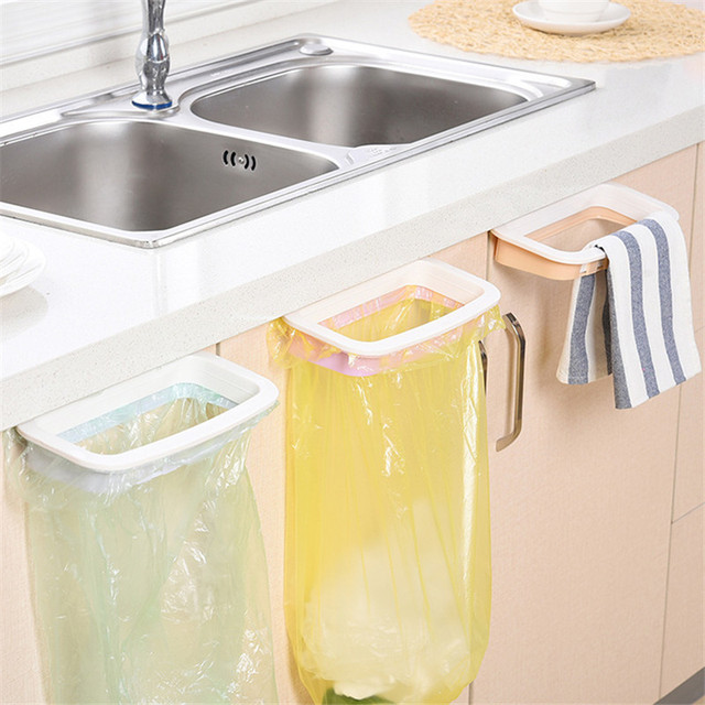 1 Pcs Gadget Da Cucina Porta Dell'armadio Sacchetto di Immondizia Scaffale Utens