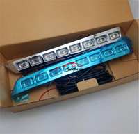 LED Day Run Light DRL Front Driving Add On Bumper Daytime Running Light 2P For Toyota Land Cruiser LC LC200 2012 2013 2014 2015