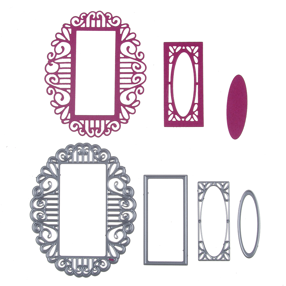 Multilayer Oval Frame Metal Dies Cutting Decorative Scrapbooking ...