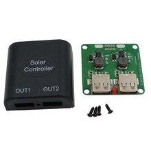 Горячая Распродажа 5v 2A Панели солнечные Мощность банк два USB зарядка Напряжение регулятор 6 V-10 V вход 5Vdc