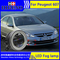 3in1 Super White LED Daytime Running Lights For Peugeot 607 Drl Light Bar Parking Car Fog Lights 12V DC Head Lamp