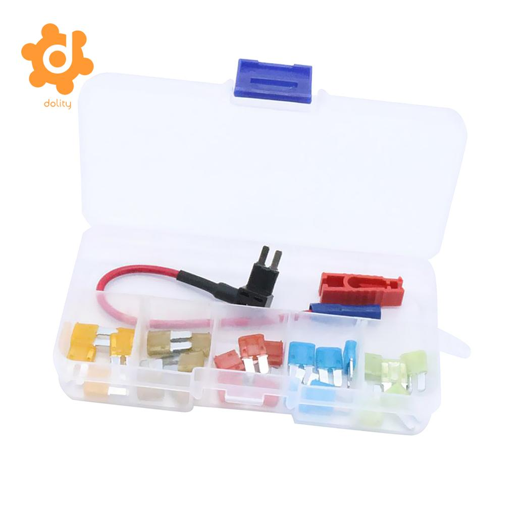 25 Pieces Car Micro2 Blade Fuse 5A 7.5A 10A 15A 20A with Add-a-circuit Fuse Holder 15a fuse holder with 1 4 in tabs for henny penny ef02 006