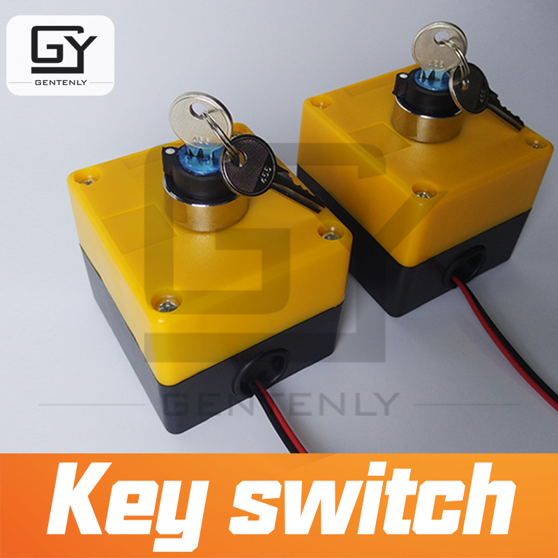Escape room prop Key Switch adjust key to right position to open magnet lock console switch