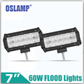 "Oslamp 60W 7inch 5D Flood Beam CREE Chips LED Light Bar 2pcs 7"" Auto LED Work Lights 12V 24V Car SUV ATV RZR Wagon Camper Truck"