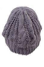 ТОП Плетеный Багги Крючком Шапочка Вязание Теплая Зима Шерсть Шляпа Skullies Cap для Женщин