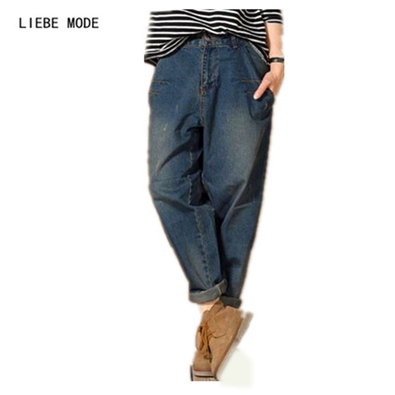 2019 Korean Designer Baggy Jeans Women Mid Waist Loose Denim Pants Boyfriend Jeans Woman