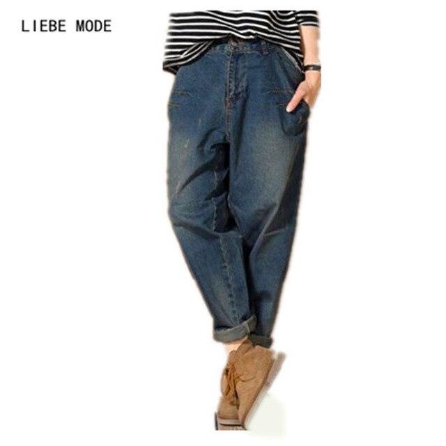 69e3bb35c8c 2019 koreański projektant workowate dżinsy kobiet połowie talii luźne  jeansowe spodnie Boyfriend Jeans kobieta