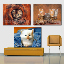 Needlework 3D Diamond Painting Cute Kitten Animal 5D Diy Embroidery Full Drill Rhinestone Mosaic Picture
