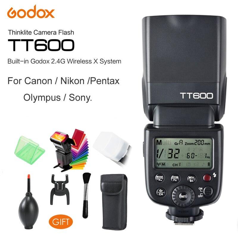 Godox TT600S TT600 Flash Speedlite voor Canon Nikon Sony Pentax Olympus Fujifilm & Ingebouwde 2.4g Draadloze Trigger Systeem GN60-in Flitsen van Consumentenelektronica op  Groep 1