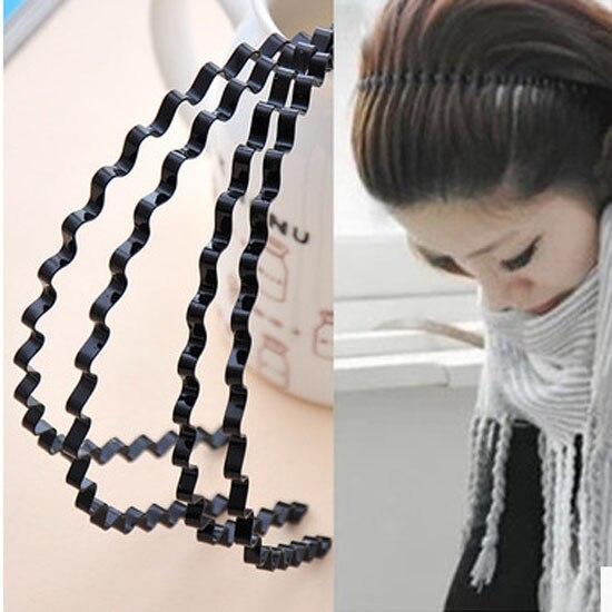 LNRRABC Black Wavy Hair Head Hoop Band Headband For Men Hairbands Headbands For Women Hair Accessories