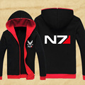 NEW Mass Effect 3 N7 Paragon inspired gamer Zip-Up Hoodie Hoody Cosplay Hoodie Coat Costume Jacket