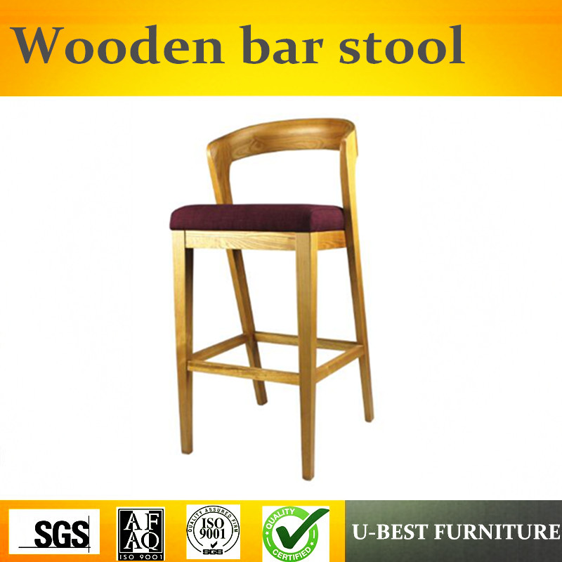U-BEST Mid Century Modern Furniture Replica Desinger Upholstered Luxury Bar Chair ,Modern Baroque  Barstool