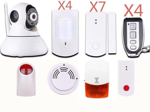 Dzx ip camera combined wireless wifi alarm system house alarme