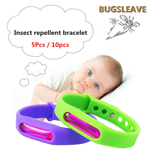 Image 2 - 5Pcs Kleurrijke Milieubescherming Anti Muggen Siliconen Armband Zomer Strip Veilig Voor Kind Muggen Killer