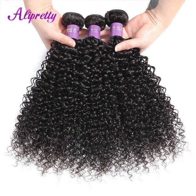 Alipretty pelo mongol rizado ofertas del paquete del pelo 8-28 pulgadas de 1/3/4 piezas Color Natural 100% paquetes de armadura de cabello humano envío gratis