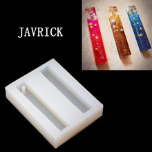 JAVRICK Rectangle Bar Resin Silicone Mold Epoxy DIY Pendant Making Jewelry Tools