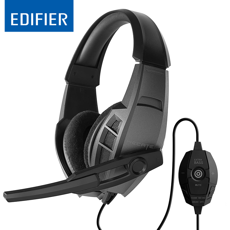 EDIFIER G3 Professional USB Gaming Headset 40mm Driver Dynamic Headphone High Quality With Super Bass Hifi Stereo Music Headband meizu hd50 headband hifi stereo bass music headset aluminium alloy shell low distortion headphone with mic for iphone samsung lg