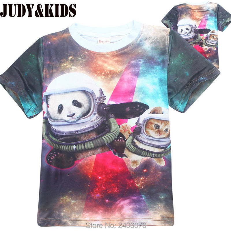 c9eb8745891f teenage 3D t-shirt children clothing teens boy girl tops tees panada cat 3D  full ...
