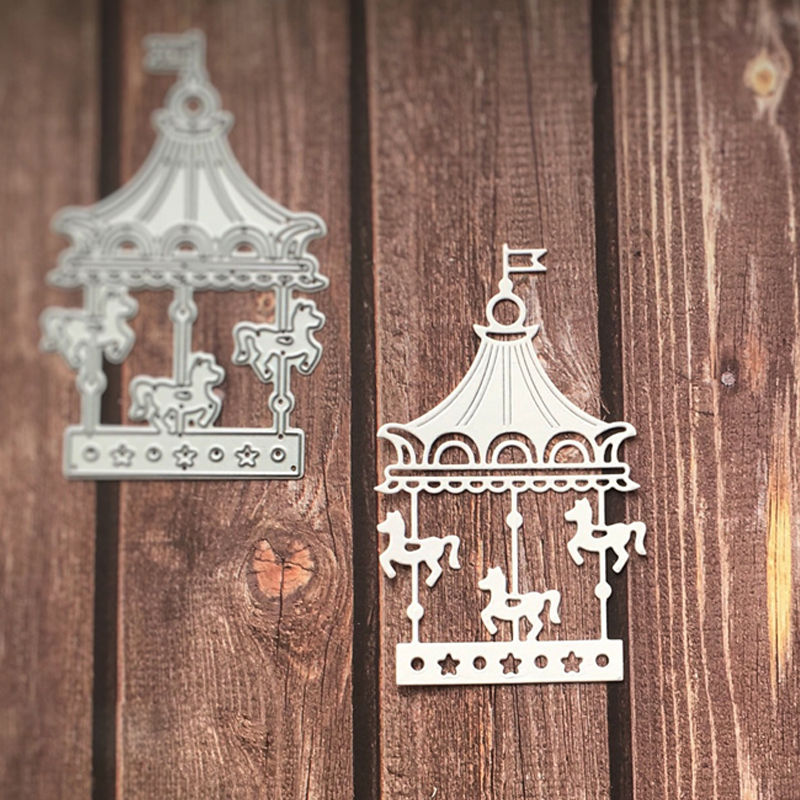 Cute Carousel Whirligig  Metal Cutting Dies Stencils For DIY Scrapbooking Decorative Embossing Paper Cards Handcraft Die Cut
