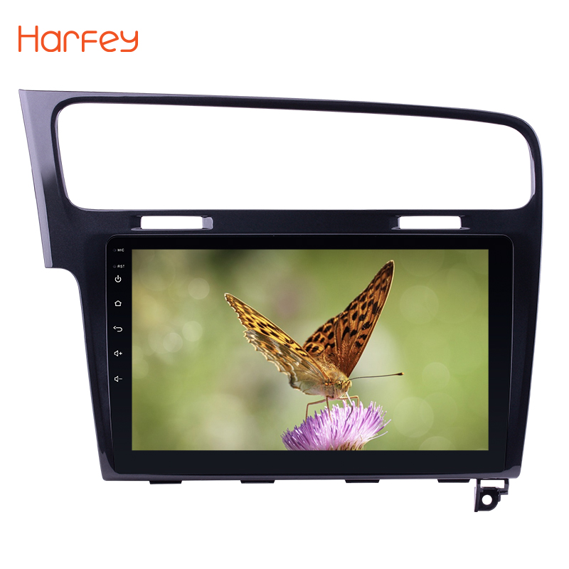 Harfey Android 8.1 10.1 HD Touch Screen Car radio GPS Navigation For 2013 2014 2015 <font><b>VW</b></font> Volkswagen <font><b>Golf</b></font> <font><b>7</b></font> Support Bluetooth wifi image