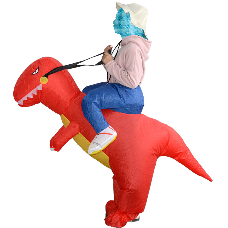 Adult Inflatable Dinosaur Costumes Fancy Dress Costume Purim Halloween Cosplay for Women Dino Jumpsuit Funny Birthday Gift
