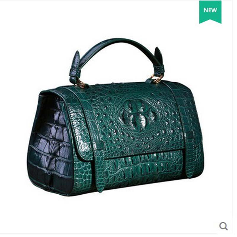 2018 heimanba freeshipping crocodile skin bag women bag handbag Thai alligator women handbag women boston bag presell 15days