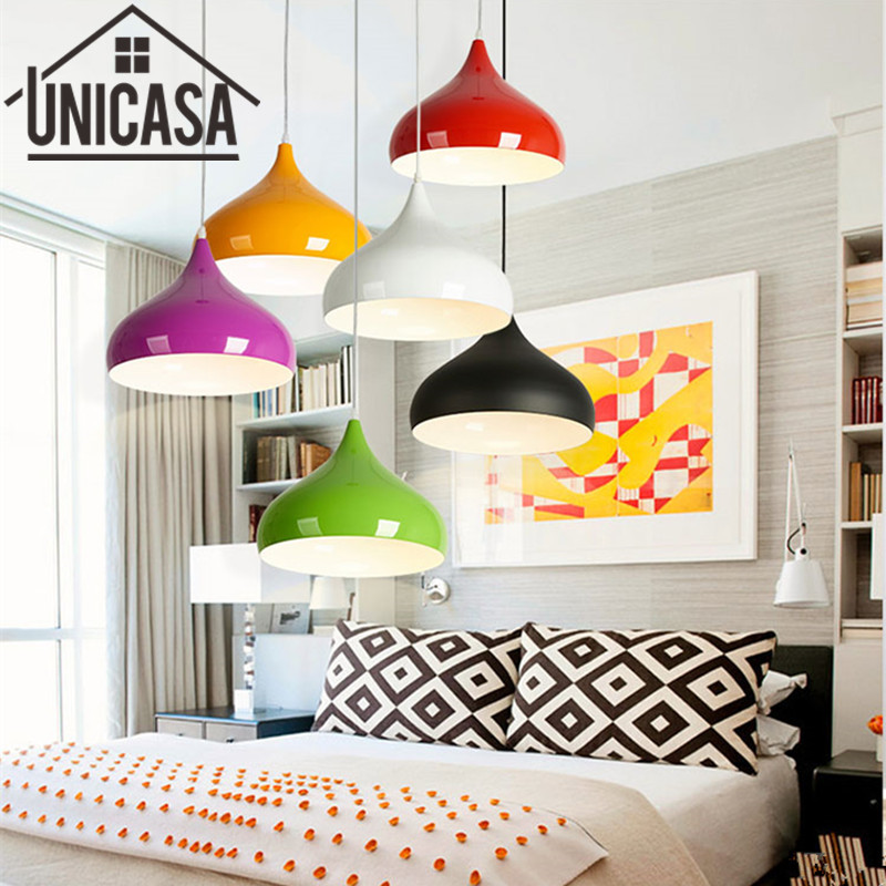 US $22.3 48% OFF|Colors Pendant Lights Kitchen Island lamps Modern Ceiling  Lamp Vintage Bar Wrought aluminum Metal Lighting Fixtures for 1 pic-in ...