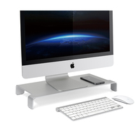 Monitor Stand Aluminum Computer Riser Steady Organizer for MacBook/iMac Pro/TV Screen/Print Lapdesk Holder with Keyboard Storage