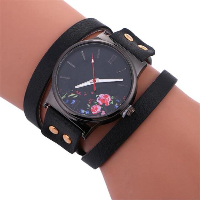Women's bracelet watch Stylish Simplicity Leather Bracelet Lady Womans Wrist Wat