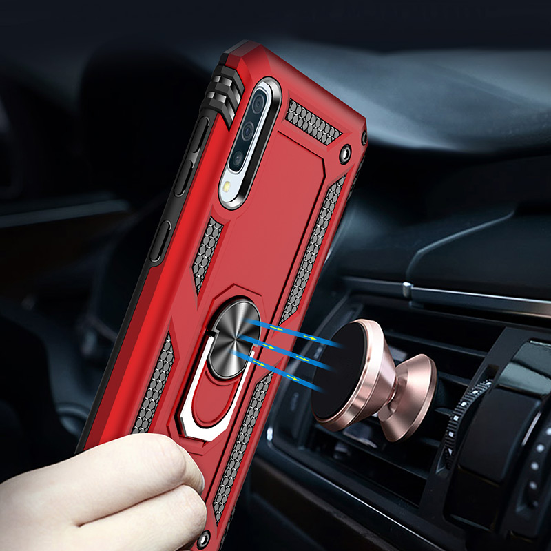 H&A Luxury Shockproof Phone Case For Samsung Galaxy A60 A70 A80 A90 A50 A40 A30 A20 A10 Magnetic Ring Stand Cover M10 M20 Case-in Fitted Cases from Cellphones & Telecommunications