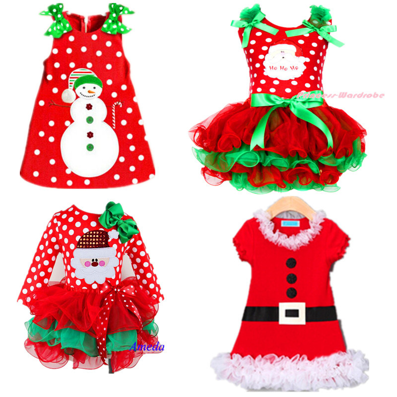 2017 New Baby Girls Christmas Man Dot Dress Costume Cotton children Dresses Christmas Red color children's Clothing 2-6 yrs 2017 new baby girls christmas man dot dress costume cotton children dresses christmas red color children s clothing 2 6 yrs