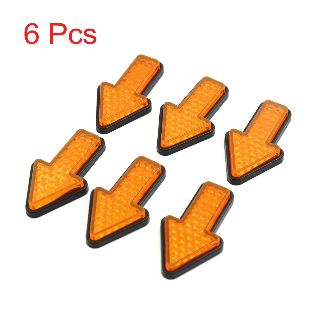 Us 387 8 Offuxcell 6pcs Yellow Plastic Arrow Shape Vehicle Car Reflector Reflective Plate Sticker In Reflective Strips From Automobiles