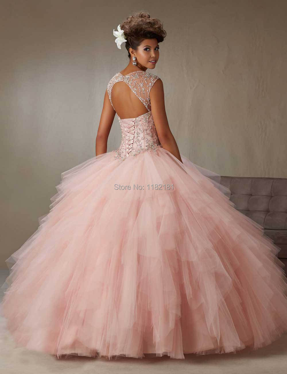 5df9ceae2d1 Removable Strap Corset Bodice Ball Gown Girls Quinceanera Dress Pink  Sweetheart Cheap Sweet 16 Party Gowns 2016-in Quinceanera Dresses from  Weddings ...