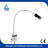 Goose neck lamp clip on Medical Examination LED Dental Light Surgical Lamp free shipping 1set