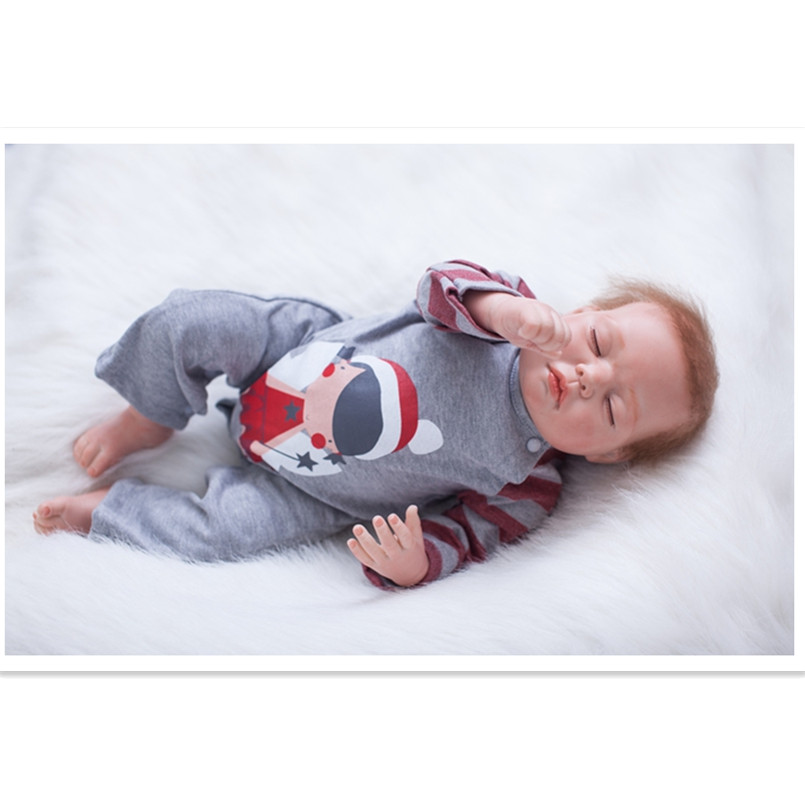 Real Looking Baby-Reborn Dolls Silicone Reborn Dolls Educational Toys for Children Girls,50 CM Real Reborn Babies Sleeping Doll that look and feel real silicone reborn dolls children s intellectual toys baby all soft glue into the water baby babies reborn