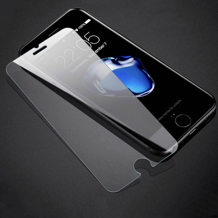 9H Tempered Glass For <font><b>iPhone</b></font> <font><b>4S</b></font> 5 5S 5C SE 6 6S 7 8 X Plus Screen Protector Protective Guard <font><b>Film</b></font> Front Case <font><b>Cover</b></font> + Clean Kits image