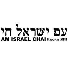 CS-767#30*7.8cm Israel LIVE version 1. The inscription in Hebrew funny car sticker vinyl decal silver/black for auto