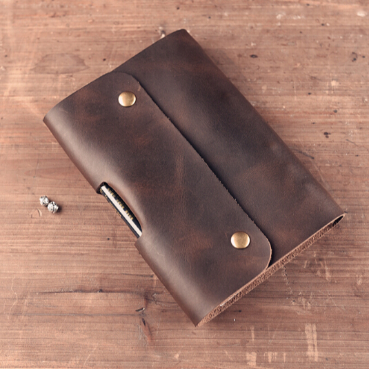 Logo Custom DIY Notebook Vintage A5 A6 Genuine Leather Diary Mini Planner Notepad Cowhide Spiral Loose Leaf Journal