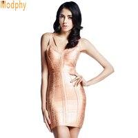 Prom 2014 Hot Designer Women Spaghetti Strap HL Bandage Dress Sexy Celebrity Party Open Back Backless