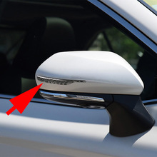 2pcs Rearview Mirror Decor Strip For BMW 1 2 3 GT 4 5 7 Series X3 X4 X5 X6 3D Carbon Fiber Trim Sticker Accessories