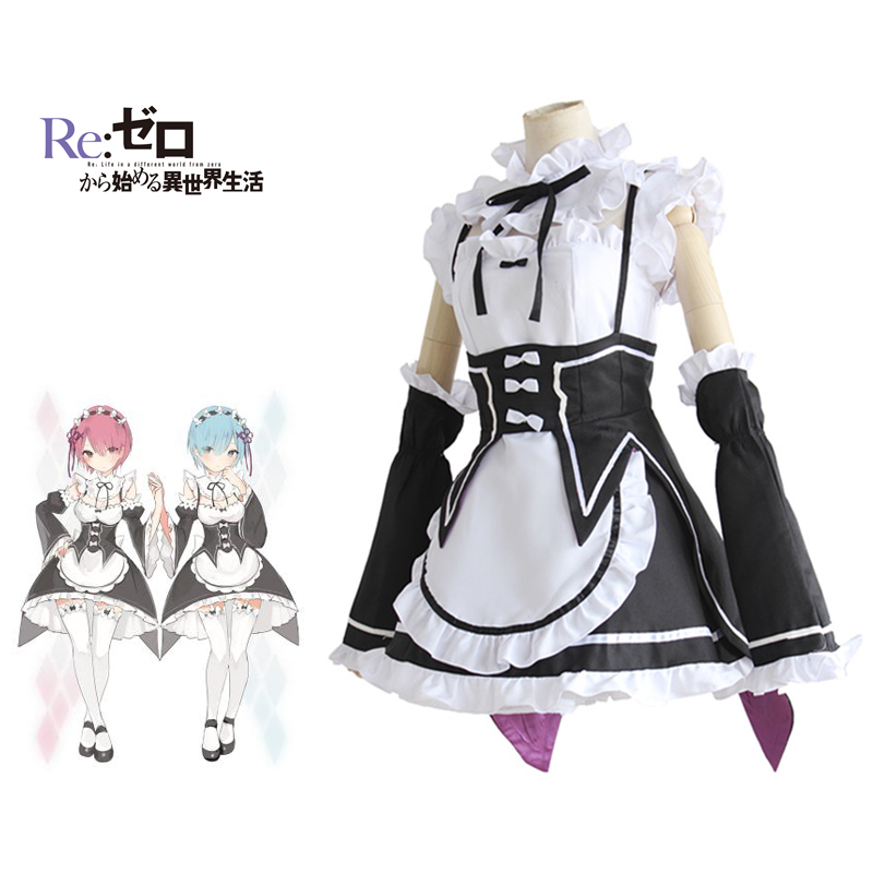 Ram Rem Maid Cosplay Re Zero Kara Hajimeru Isekai Seikatsu Costume Japanese Anime Dress Starting Life in Another World Costume