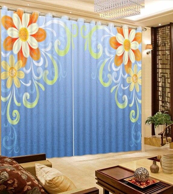 moderne korte eenvoudige patroon gordijnen voor de woonkamer 3d blauw gordijnen blackout kinderkamer slaapkamer keuken gordijn