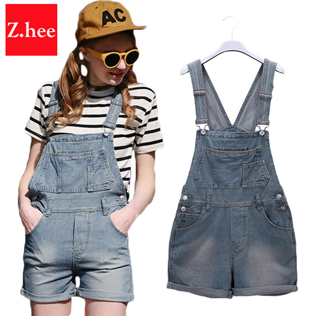 Fashion Classic How Waist Denim Overall Shorts Women Tight How Waist Overall Shorts For women Slim Short Jeans