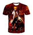 2016 summer new Short sleeve Cartoon Naruto Digital Printing t shirt Funny harajuku Hip Hop t shirt 3D Anime  Men Women tee tops