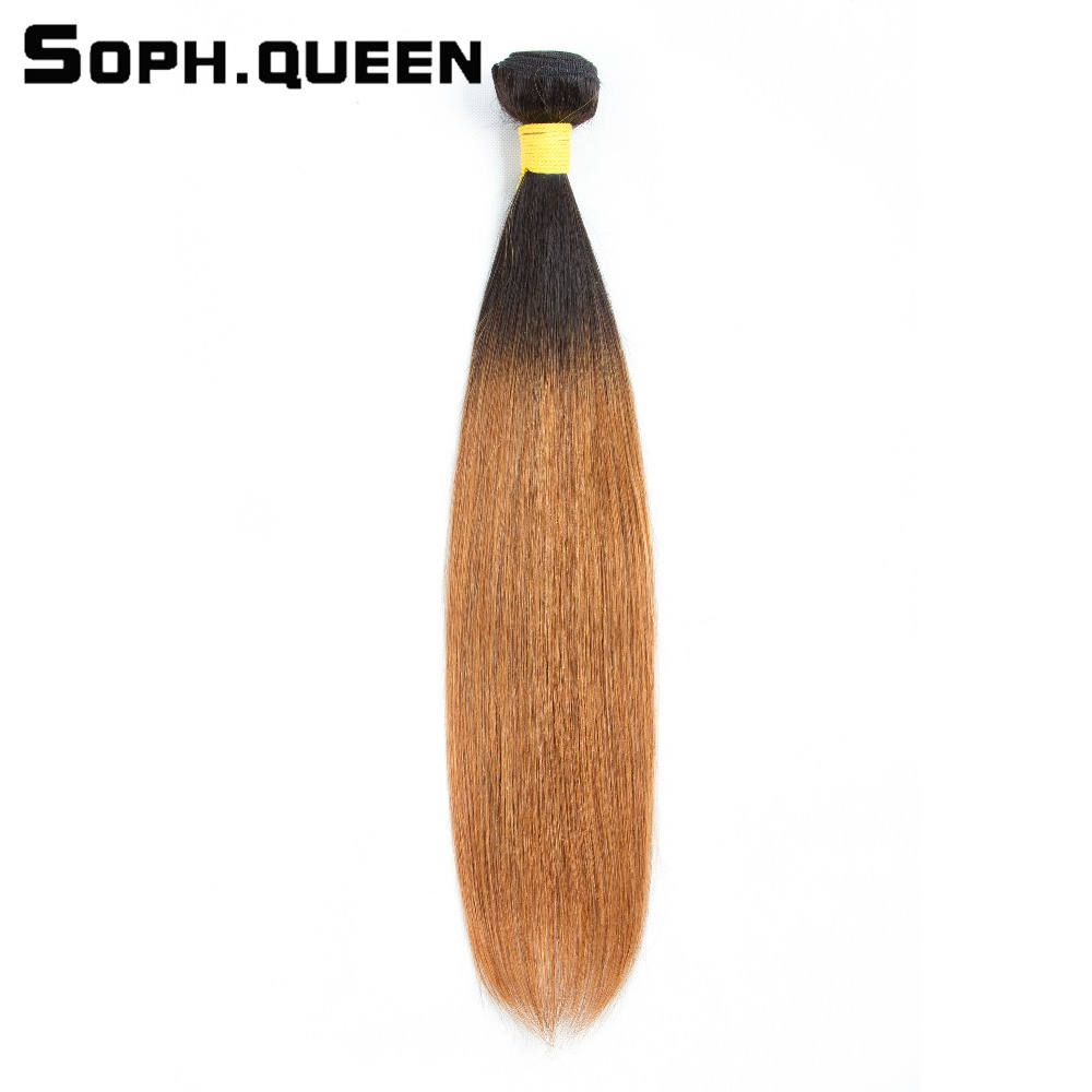 Salon Bündel-haare Soph Königin Brasilianisches Haar T1b/30 Gerade 100% Menschenhaar Blond One Bundles 8-24 Zoll Remy Haar Kein Geruch Extensions Moderater Preis
