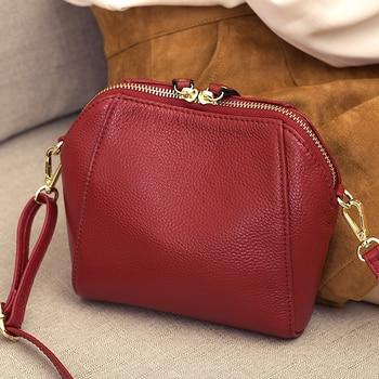 3b56a43f6 Bolso bandolera de cuero genuino para mujer bolso de mensajero de lujo bolso  de compras de las señoras de moda bolso de hombro bolso de fiesta de mujer