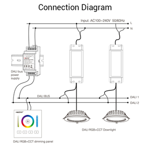 Image 4 - Miboxer DL POW1 DC16V DIN Rail DALI Bus Power Supply 4W Max250mA led transformer for AC 110V 220V DALI RGB CCT led downlight