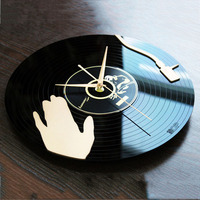 Vinyl Wall   Clock   Modern Design Music Theme 3D Stickers Creative CD Record   Clocks   Acrylic Wall Watches Home Decor Silent