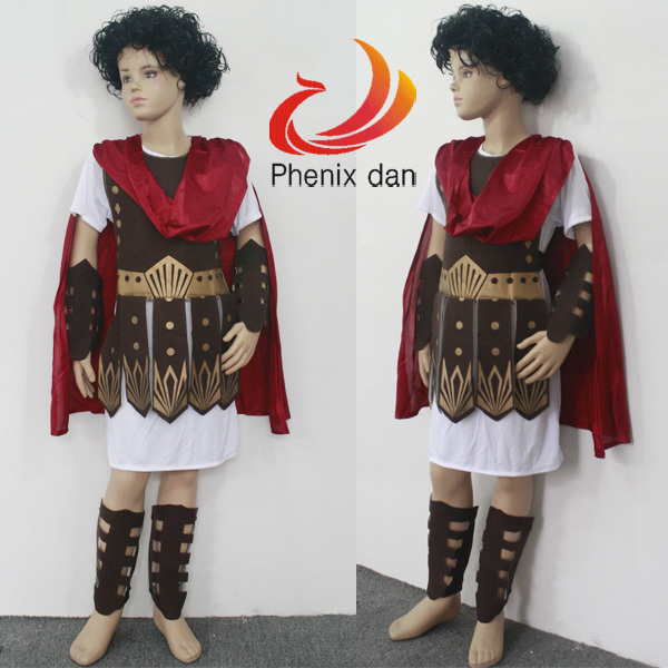 Online Shop Kids Children Boys Fancy Dress Roman Brave Warrior ...