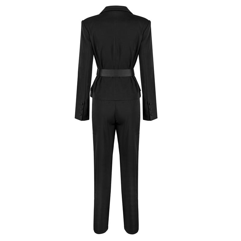 Bas Solide Mode Pièce 2019 Pantalon Nouveau Taille Caché Noir Top Elastique pourpre Vers Ensembles Bqueen Le Tournent Femmes Moulante Breasted 2 qFXd1P